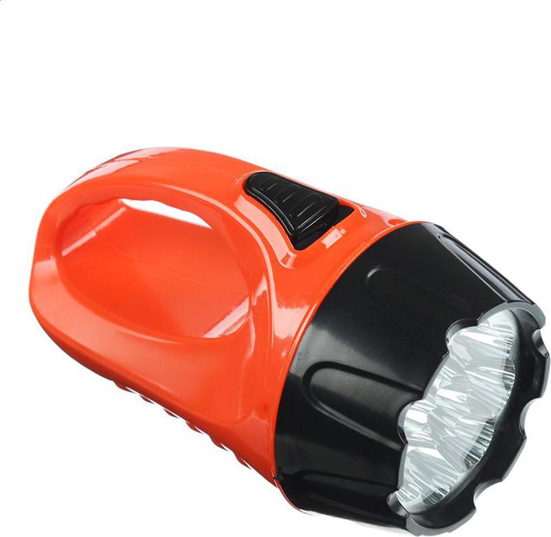 Ручной фонарь Чингисхан, 9 LED, 3 Вт, 223-003, черный, оранжевый