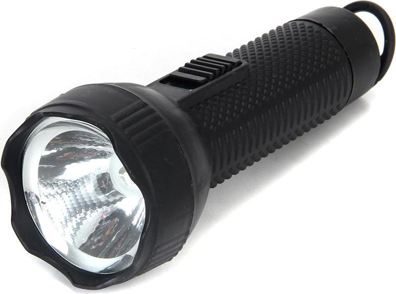 Ручной фонарь Чингисхан, LED, 1 Вт, 224-006, черный