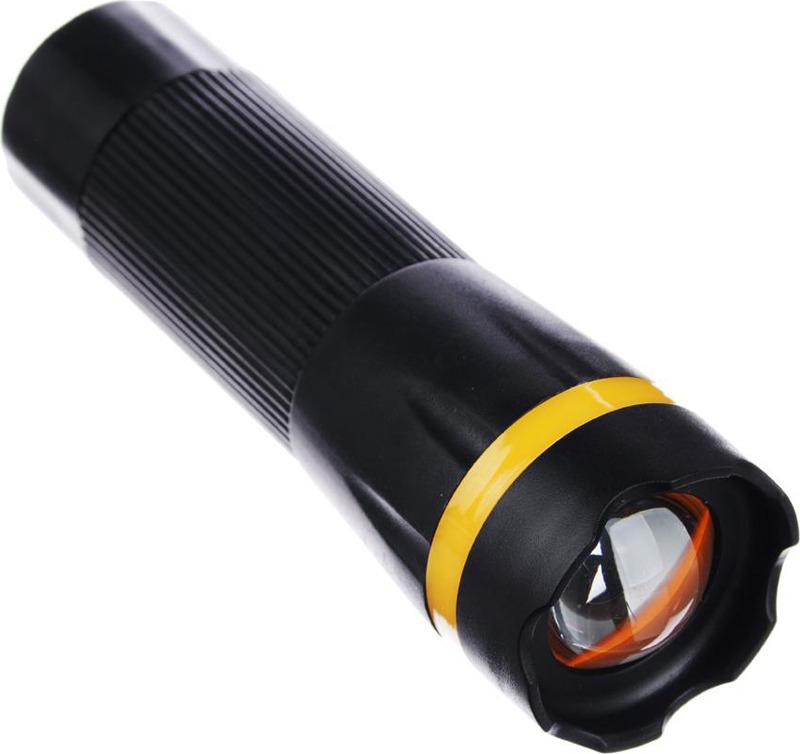 Ручной фонарь Чингисхан, с фокусировкой, 1 LED, 1 Вт, 227-001, черный