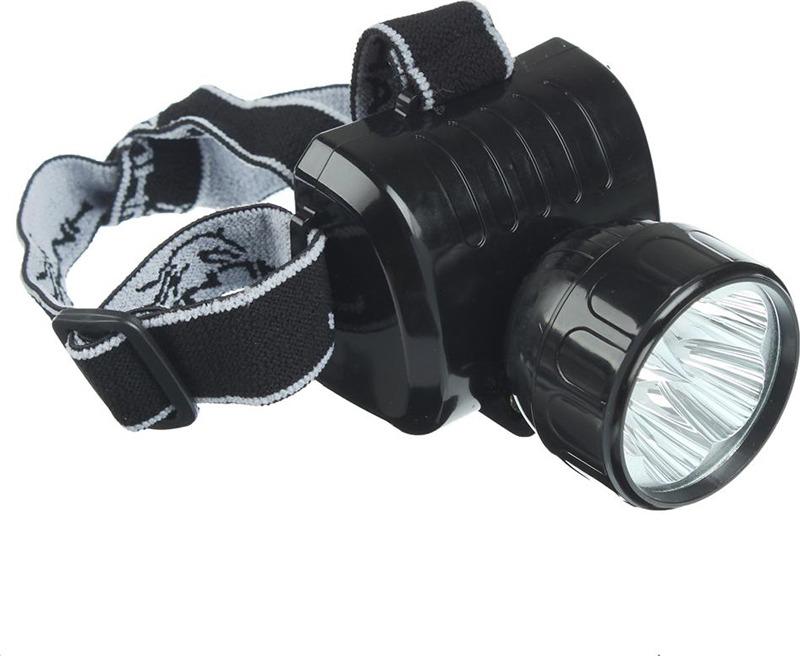 Налобный фонарь Чингисхан, аккумуляторный, 5 LED, 328-046, черный налобный фонарь чингисхан cob 5 вт 221 003 черный желтый