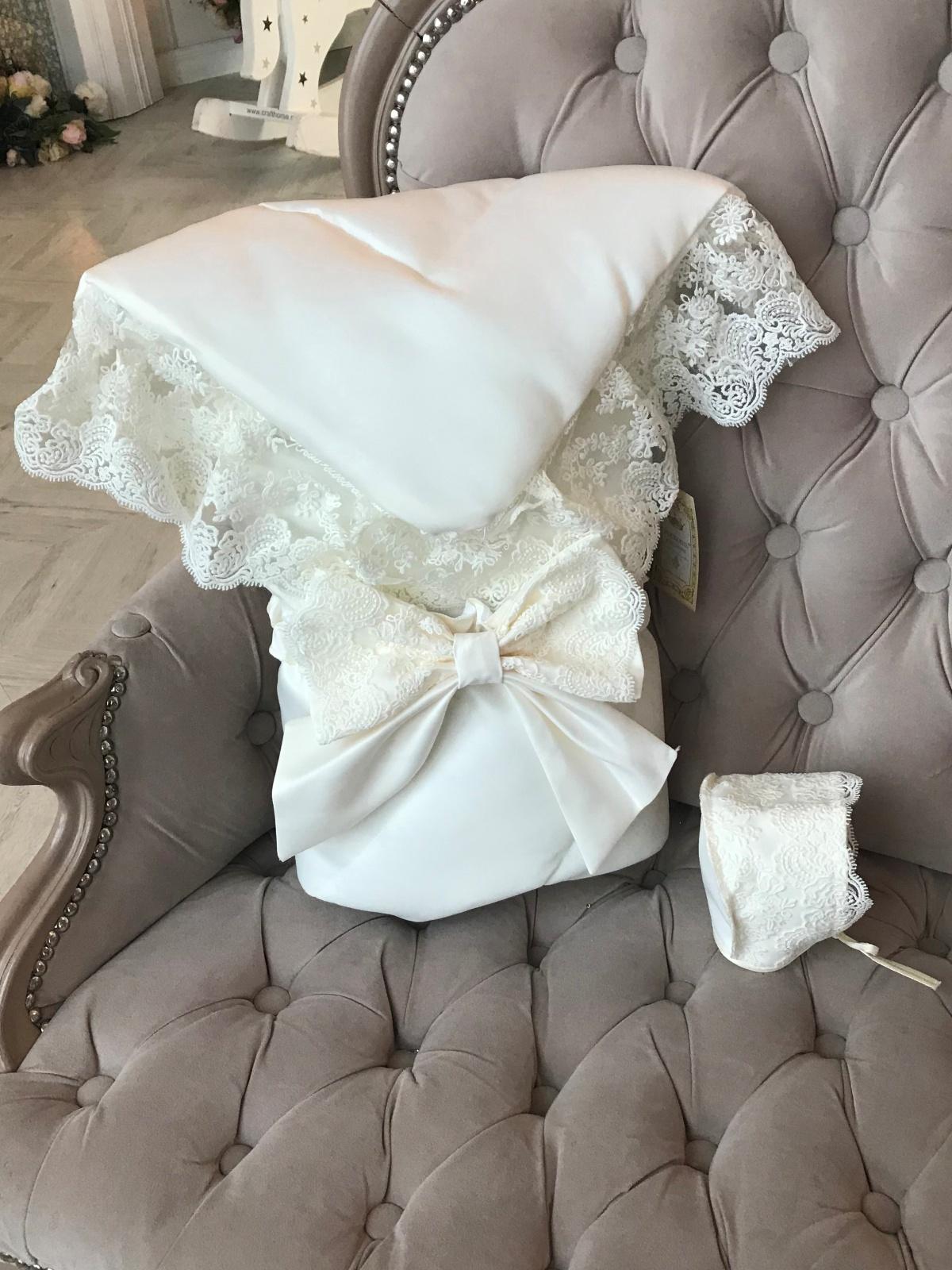 Конверт для новорожденного Luxury Baby В комплект входит бант резинке чепчик утепления...