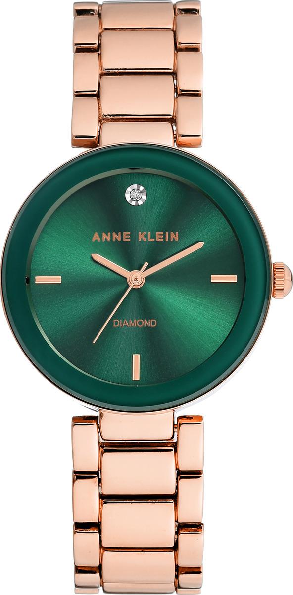 Часы Anne Klein женские, зеленый, золотой часы nixon time teller deluxe leather navy sunray brow