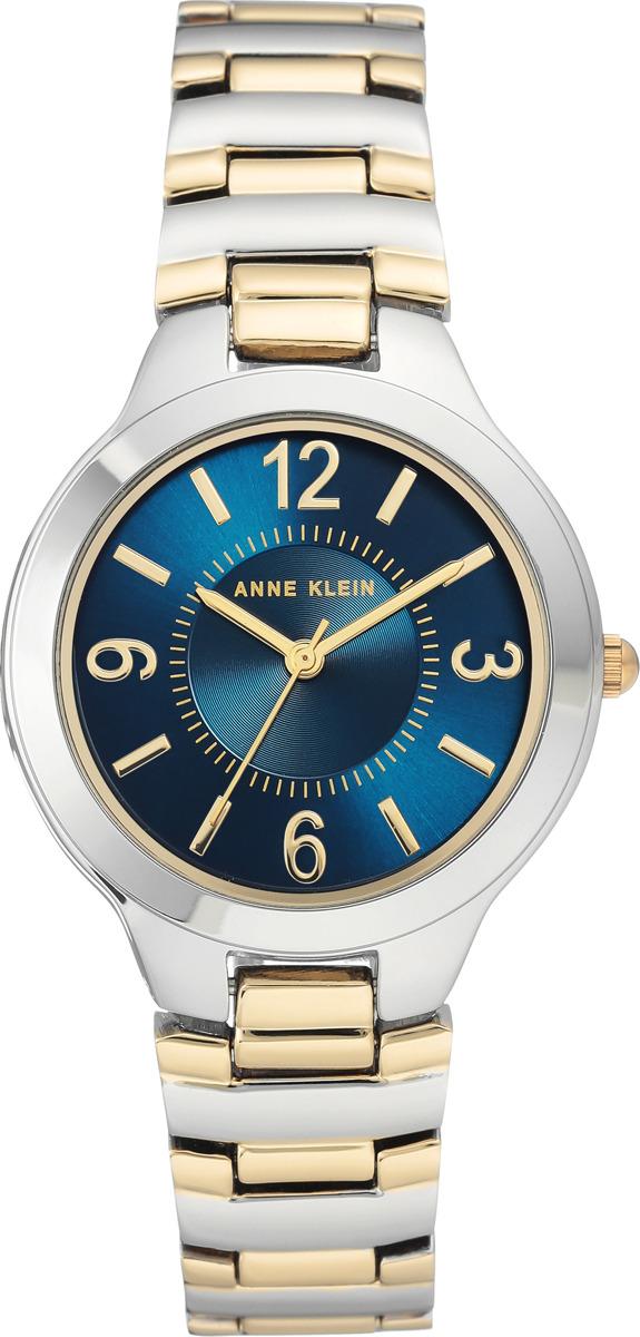 Часы Anne Klein женские, синий, серебристый часы nixon time teller deluxe leather navy sunray brow