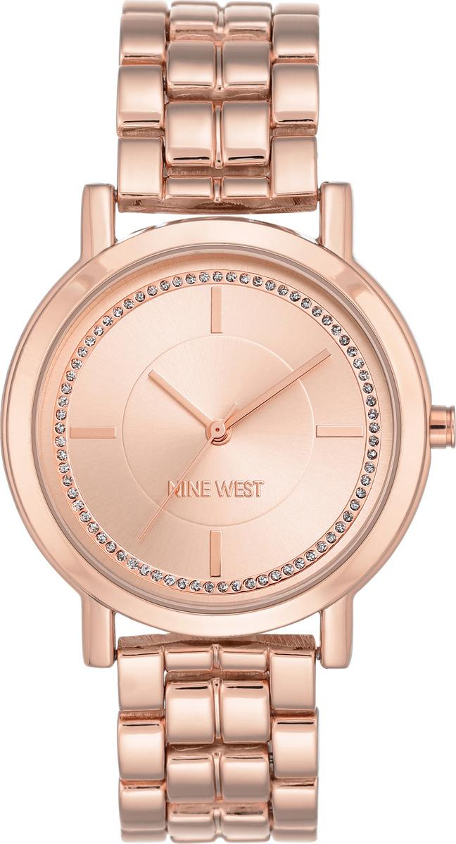 Часы Nine West женские, золотой часы из розового золота 87888