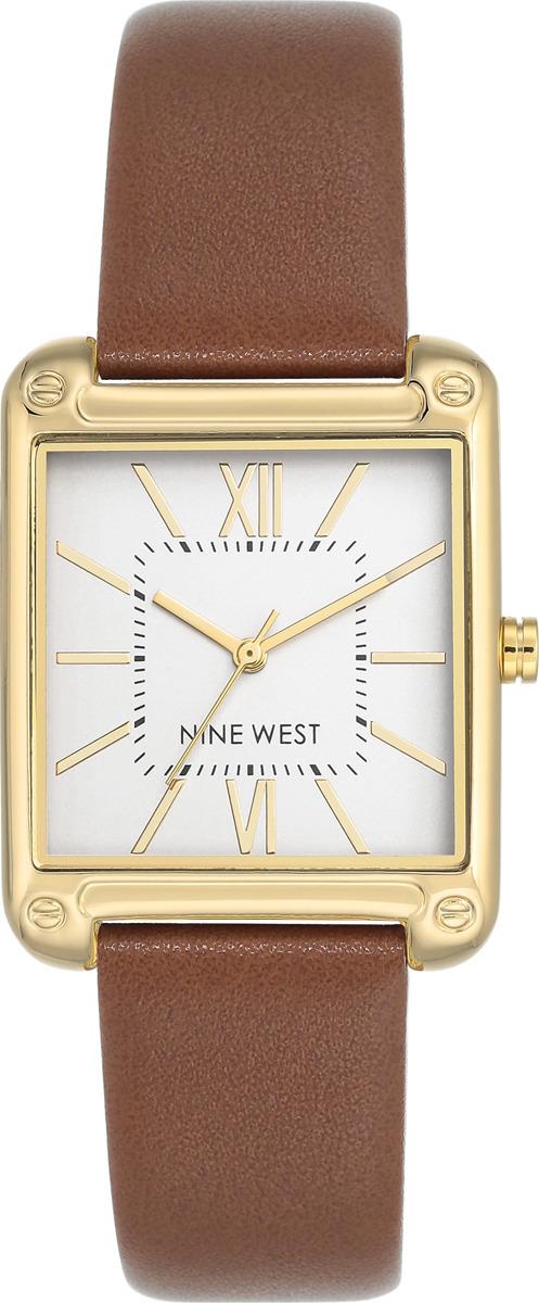 Наручные часы Nine West женские, белый, коричневый сумка nine west scale up 2015