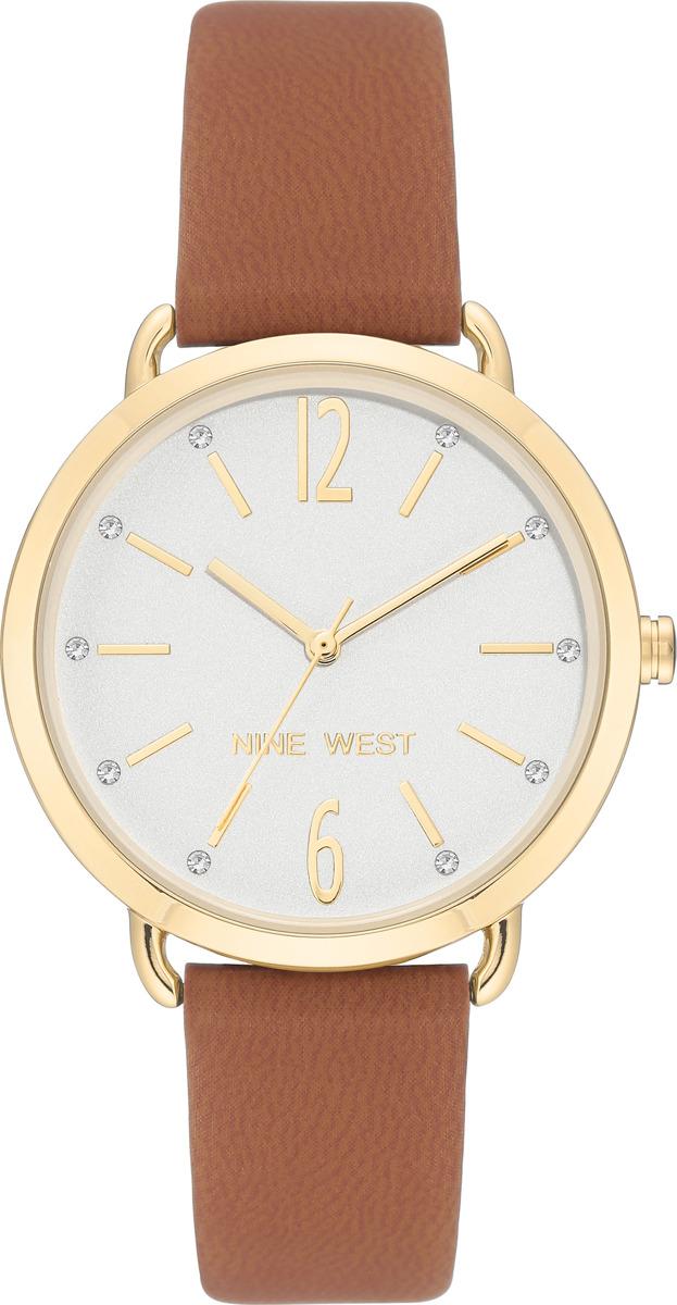 Наручные часы Nine West женские, коричневый, белый сумка nine west scale up 2015
