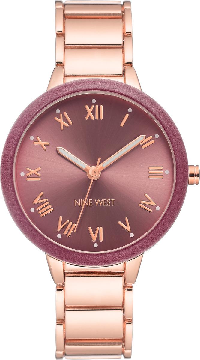 Наручные часы Nine West женские, бордовый, золотой сумка nine west scale up 2015
