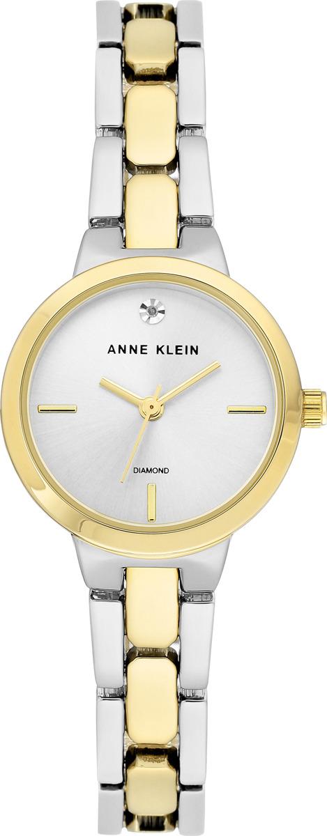 Часы Anne Klein женские, серебристый, золотой часы nixon time teller deluxe leather navy sunray brow