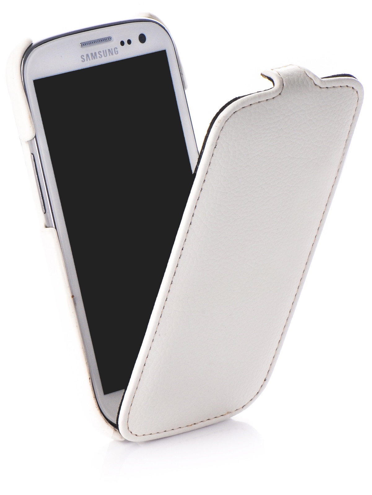 Чехол для сотового телефона Melkco книжка кожа для Samsung Galaxy S3, белый