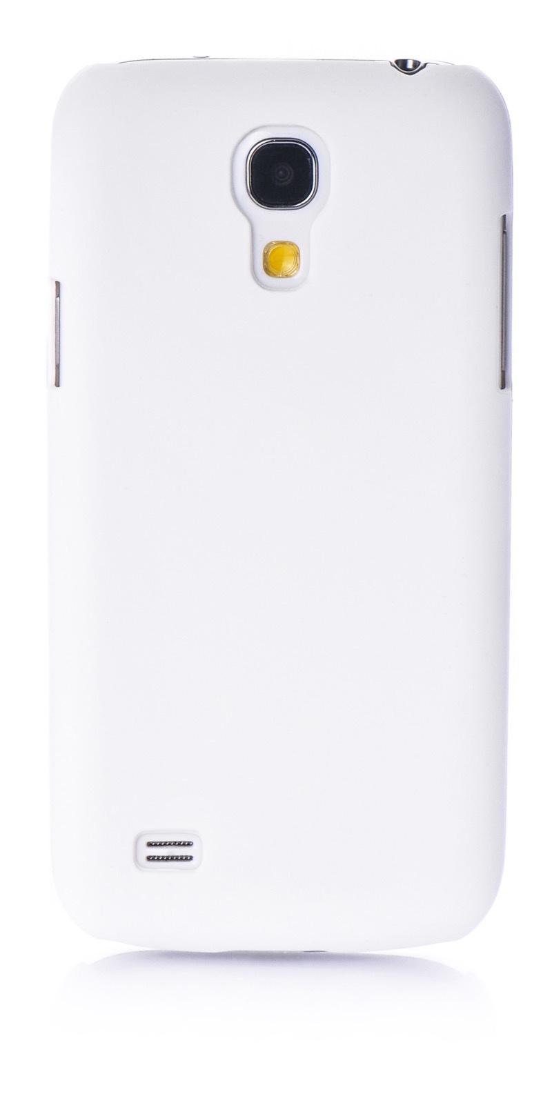 Чехол для сотового телефона iNeez накладка пластик soft touch для Samsung Galaxy S4 mini, белый