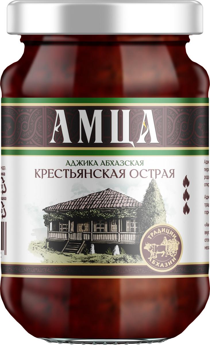 Аджика Амца Абхазская крестьянская острая, 200 г аджика амца абхазская копченая 200 г