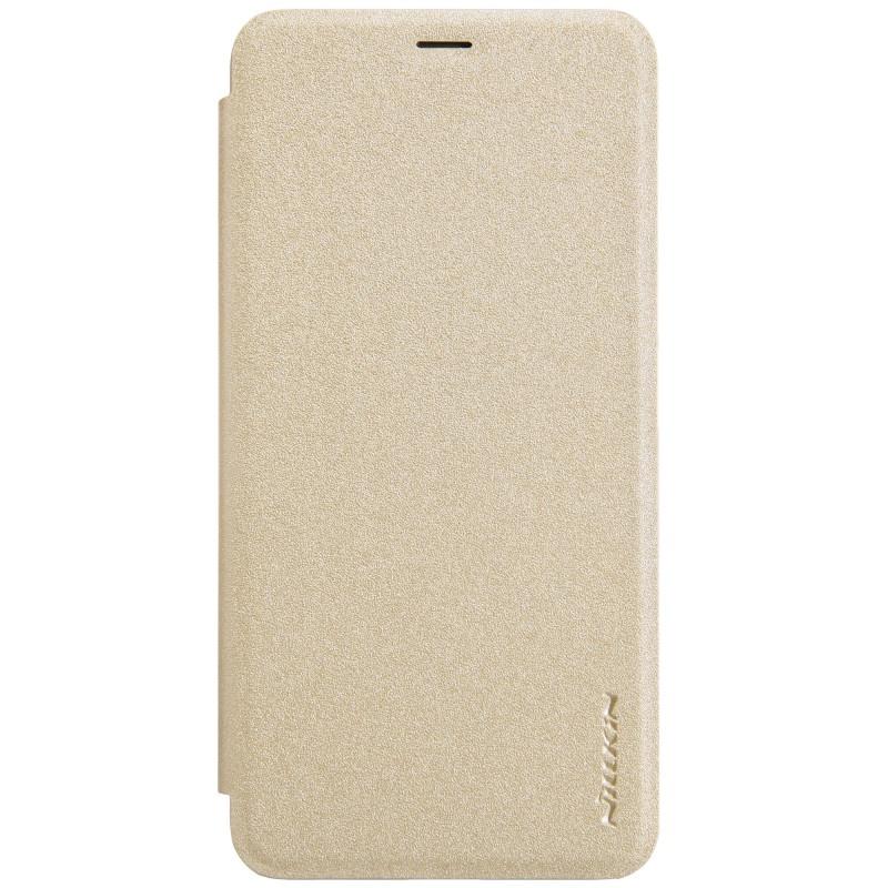 Чехол для сотового телефона Nillkin Книжка Sparkle Leather Case Huawei P30 Lite Golden, золотой чехол для сотового телефона nillkin sparkle 6902048161108 золотой