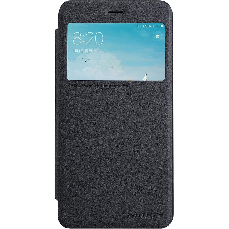 Чехол для сотового телефона Nillkin Книжка Sparkle Xiaomi Redmi 6A Black (с окном), черный