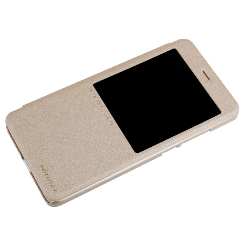 Чехол для сотового телефона Nillkin Книжка Sparkle Xiaomi Redmi 6 Gold (с окном), золотой