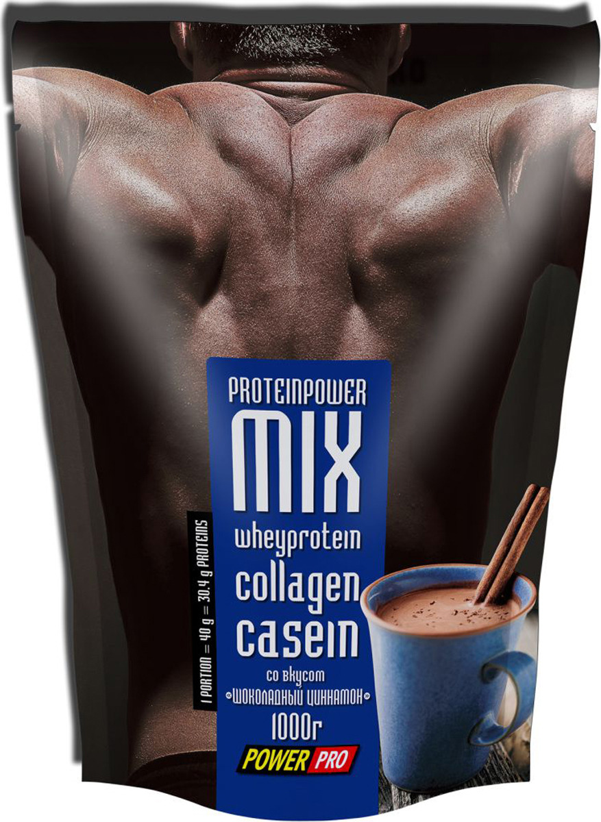 Протеин Power Pro со вкусом Шоколадный циннамон, 1 кг