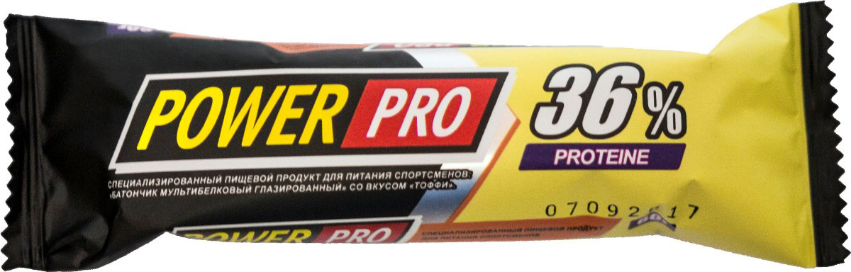 Протеиновый батончик Power Pro мультибелковый глазированный со вкусом Тоффи, 60 г