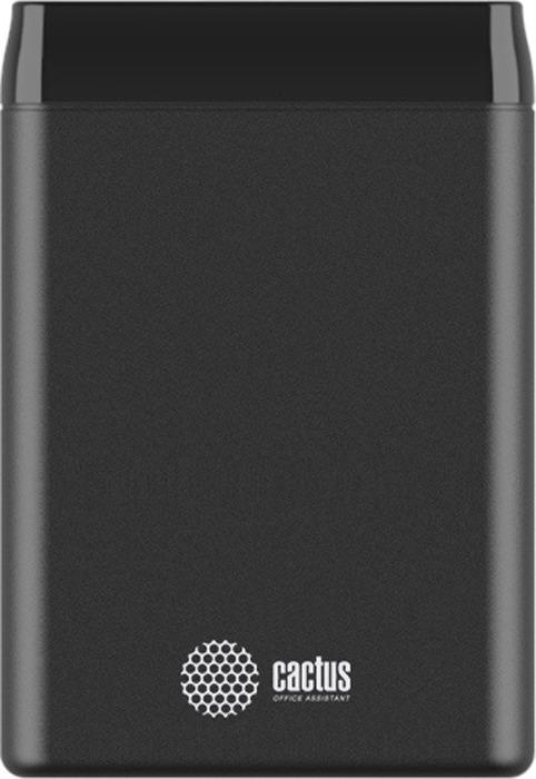 Внешний аккумулятор Cactus CS-PBFSST-5000, 5000 mAh, графит внешний аккумулятор cactus cs pbfsst 10000 10000 mah черный