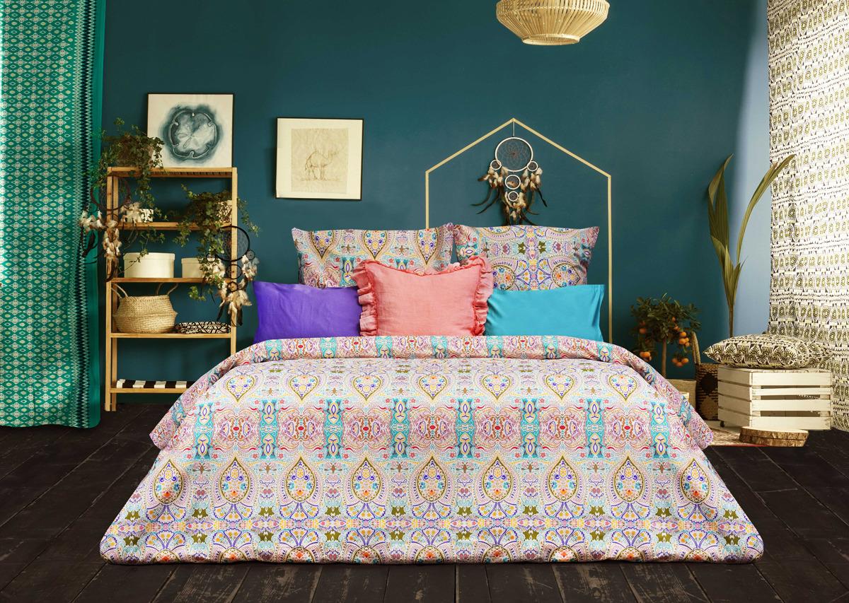 цена Комплект постельного белья Sova & Javoronok Modern Life Богема, 22030118362, разноцветный, 1,5-спальный, наволочки 50x70 онлайн в 2017 году