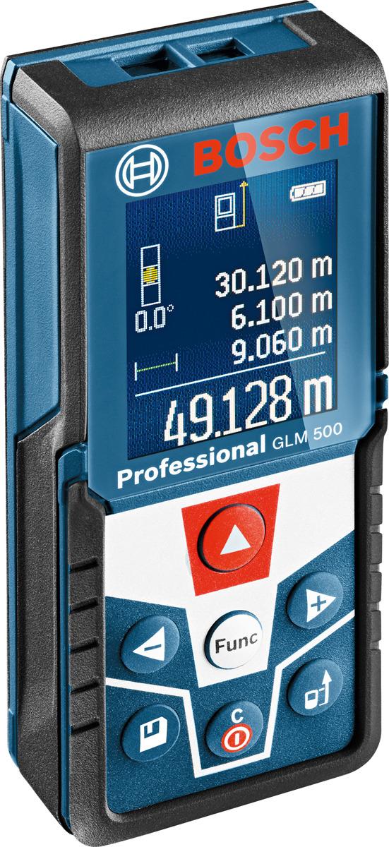 Дальномер лазерный Bosch GLM 500 Professional, синий, дальность 50 м