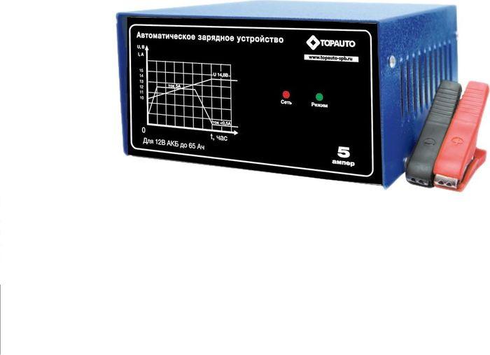 Автомобильное зарядное устройство Топ Авто 5А, 5 А, для 12 В АКБ до 65 А/ч аккумуляторы для автомобиля 65 а ч цена братск