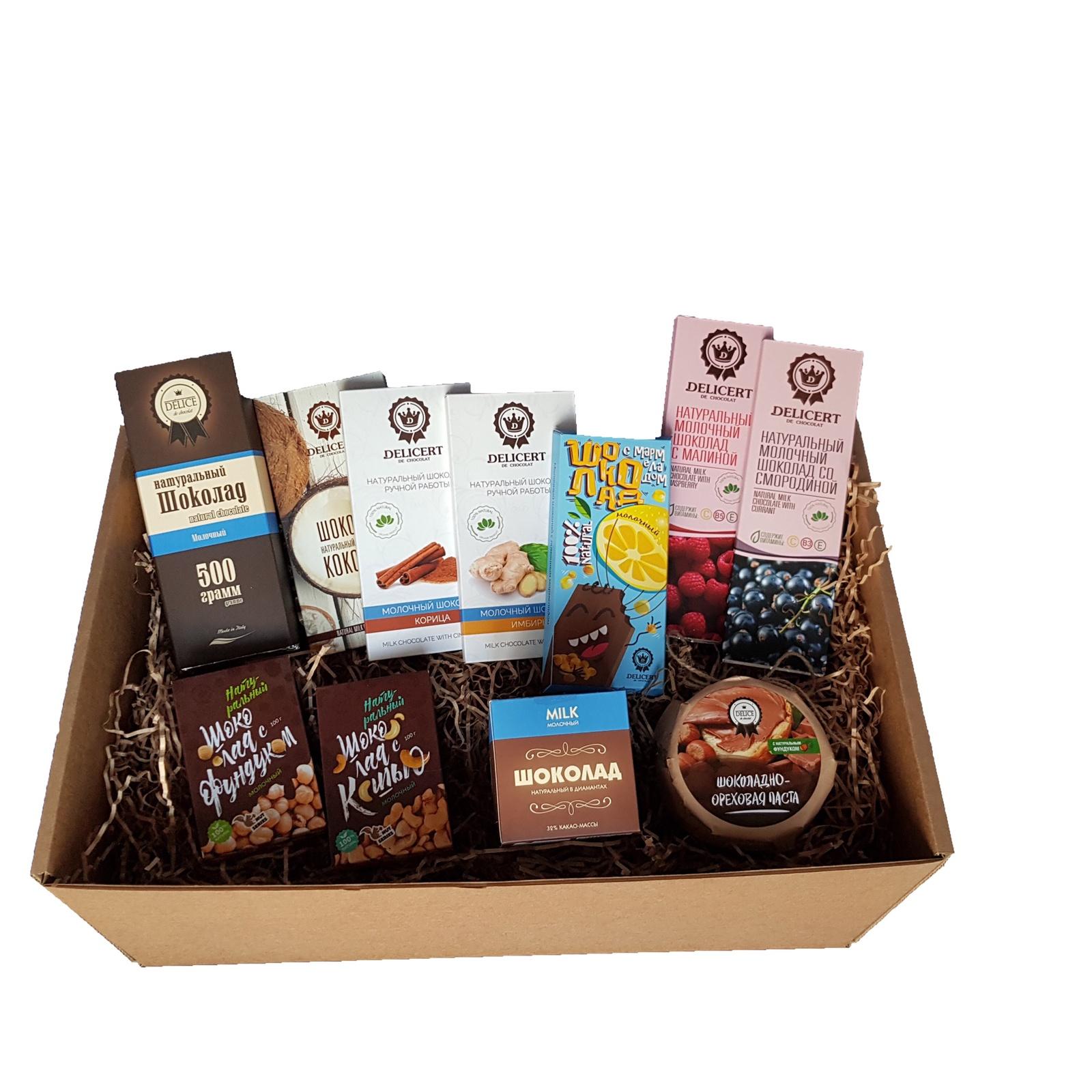Набор шоколада Delicert de chocolat (молочный шоколад) мыловаров массажная плитка для тела горячий шоколад 90 гр