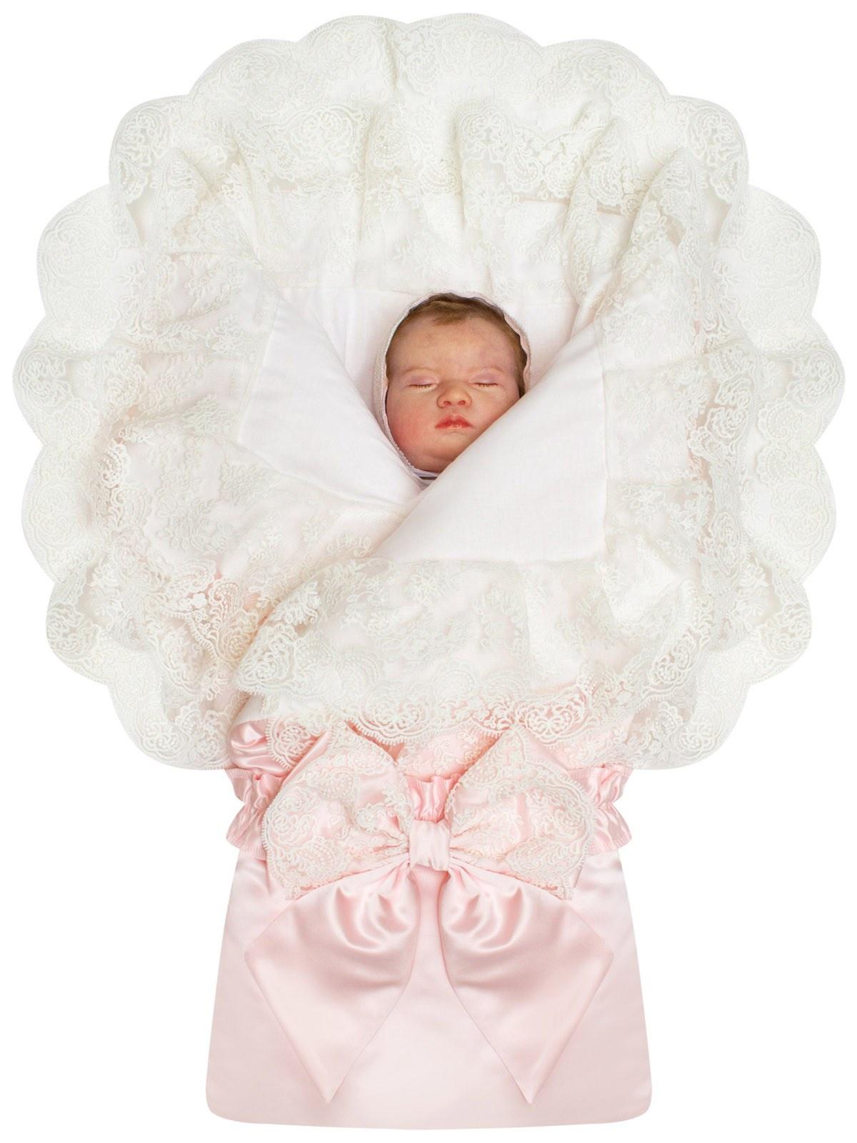 Конверт для новорожденного Luxury Baby За счёт молнии, расположенной внизу конверта он легко...