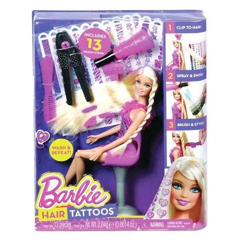 Кукла Mattel Игровой набор с куклой Барби Татуировки для волос