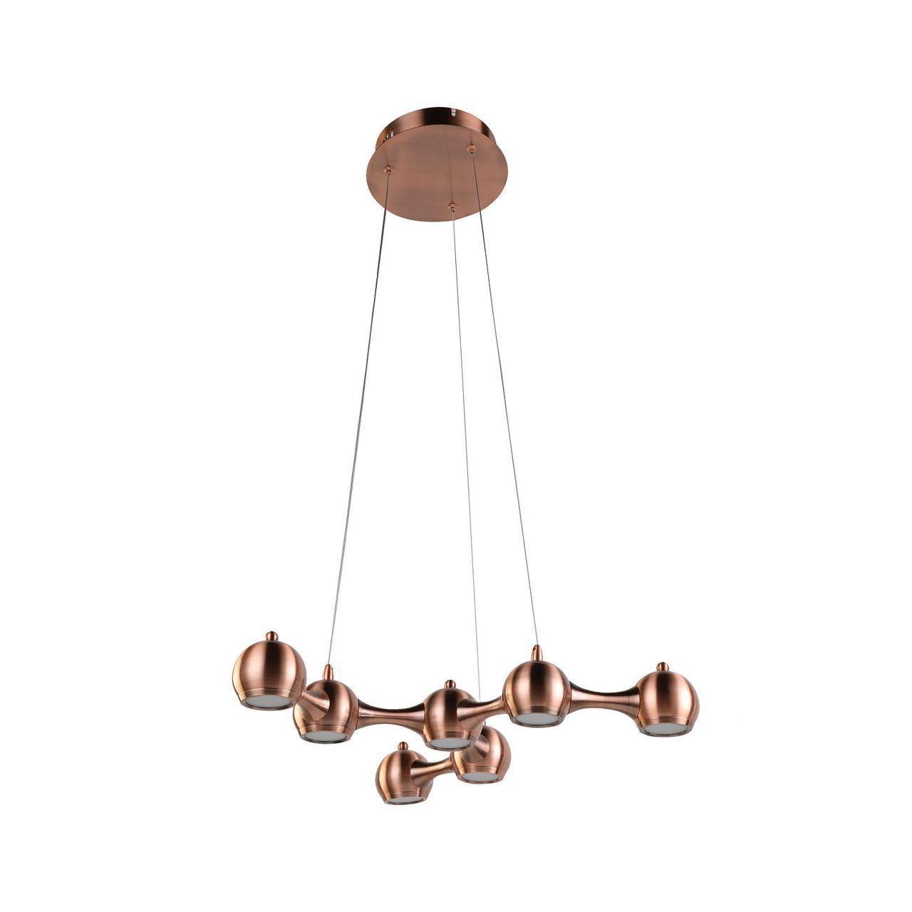 Подвесной светильник Favourite 2223-7P, медь подвесная светодиодная люстра favourite ully 2073 7p