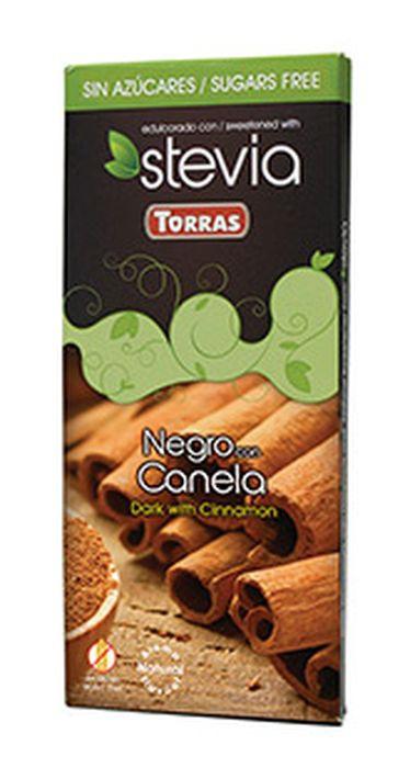 Шоколад Torras горький с корицей и стевией, 125 г шоколад mr cho горький шоколад без сахара 300 г