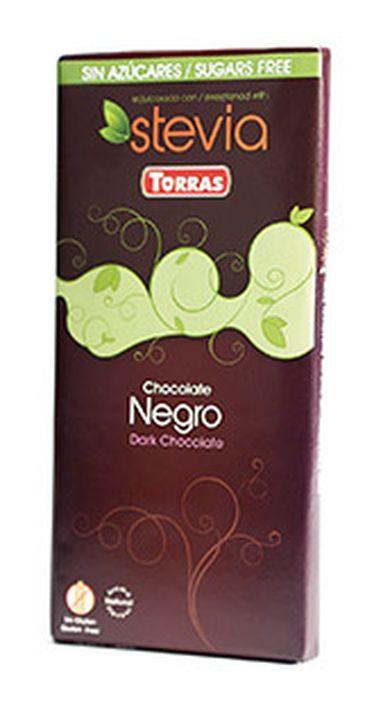 Шоколад Torras горький со стевией, 100 г шоколад mr cho горький шоколад без сахара 300 г