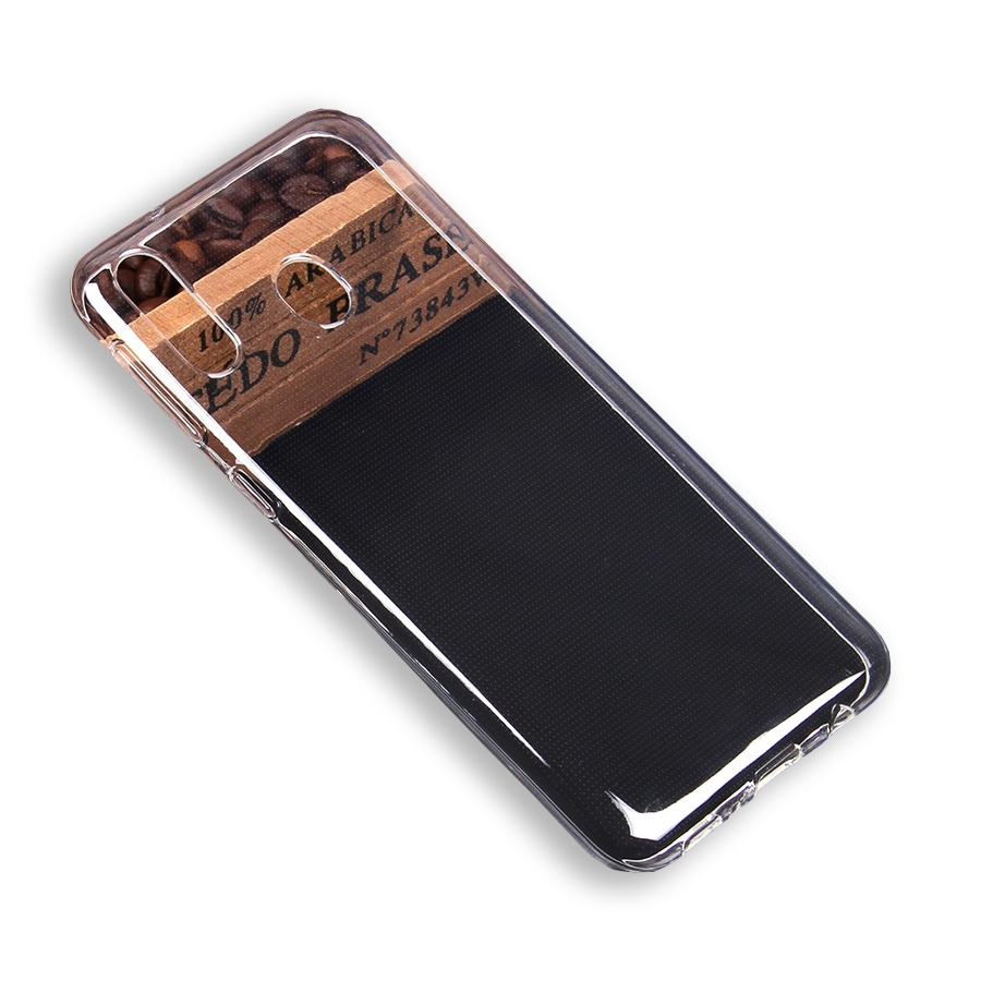 Чехол для сотового телефона cиликоновый для Samsung Galaxy M20, прозрачный