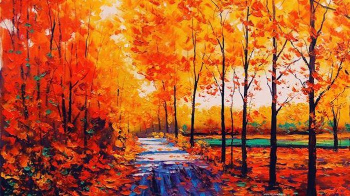 """Алмазная мозаика Яркие Грани """"Золотая осень"""" (DS163), размер 89х50 см, 55 цветов"""