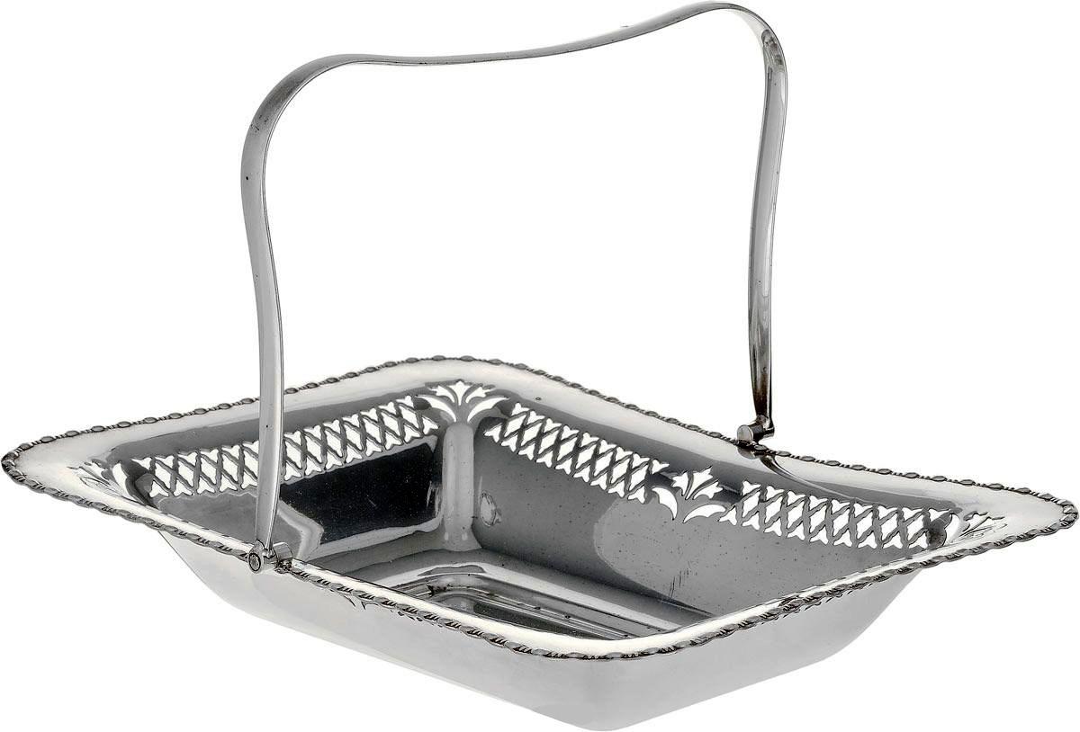 Фруктовница Металл глубокое серебрение. 28 х 22,5 см. Великобритания первая половина 20 века