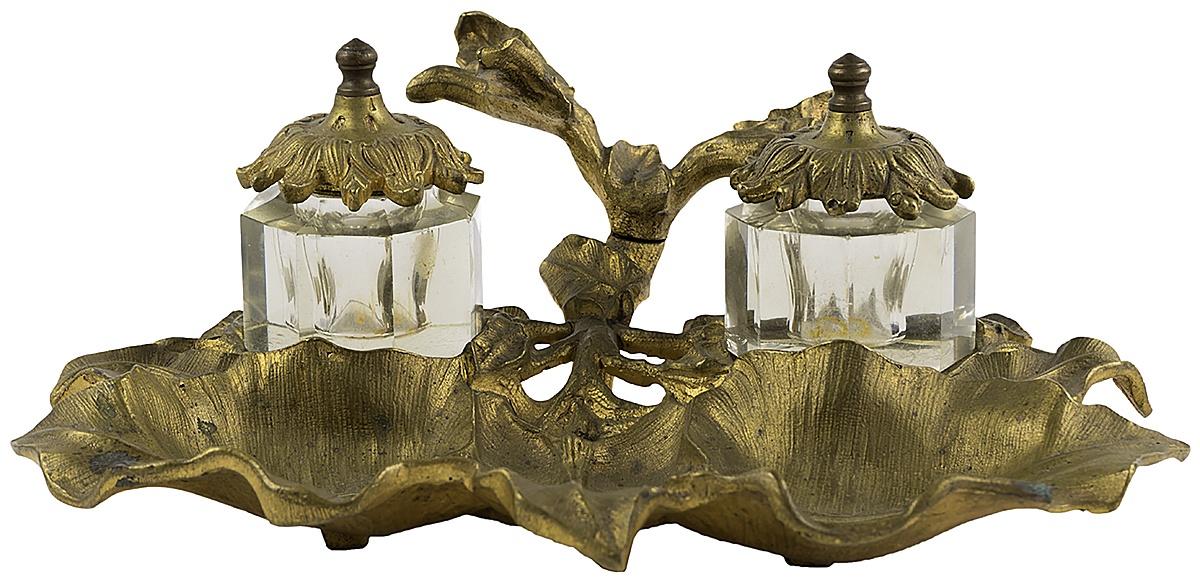 Письменный прибор Бронза стекло. Западная Европа начало ХХ века колокольчик леди в шляпке латунь западная европа начало хх века