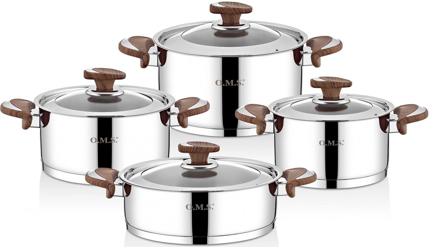 Набор посуды для приготовления пищи OMS, 1076, 8 предметов кабель hdmi 4 5м gembird cc hdmi4l 15 круглый черный