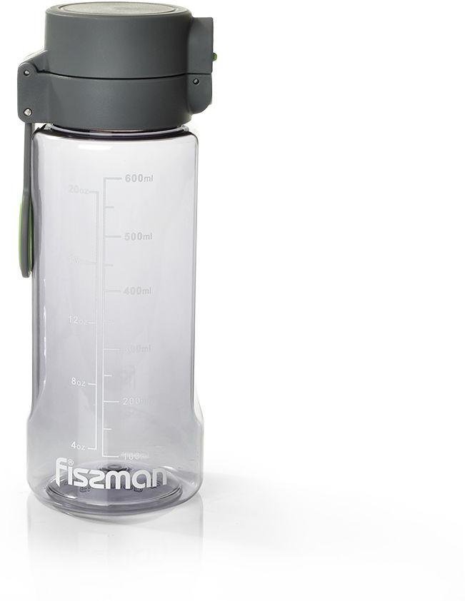 Бутылка для воды Fissman, 6920, серый, 680 мл бутылка для воды contigo цвет серый 650 мл contigo0647