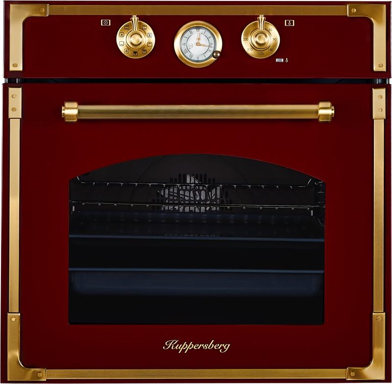 Духовой шкаф Kuppersberg RC 699 BOR BRONZE, бордовый, бронза цена и фото