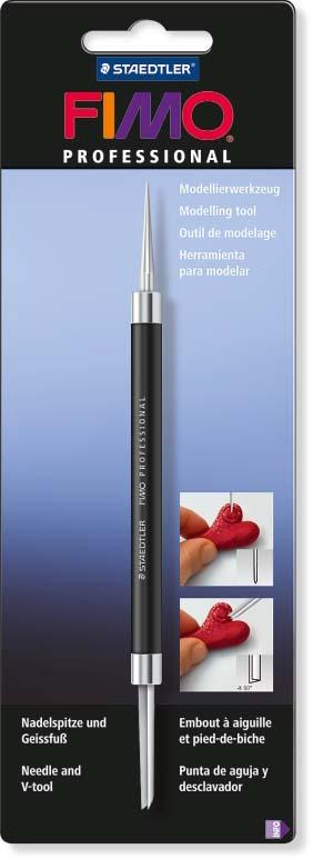 FIMO professional инструмент для моделирования игла и V-инструмент, арт. 8711-04-BK инструмент паркетчика