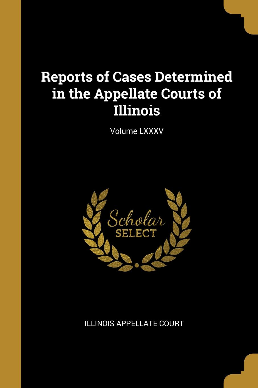Illinois Appellate Court Reports of Cases Determined in the Appellate Courts of Illinois; Volume LXXXV