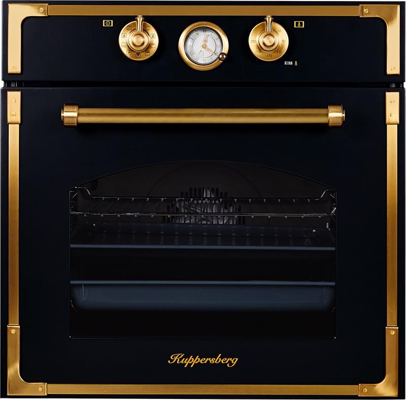Духовой шкаф Kuppersberg RC 699 ANT BRONZE, черный, бронза цена и фото