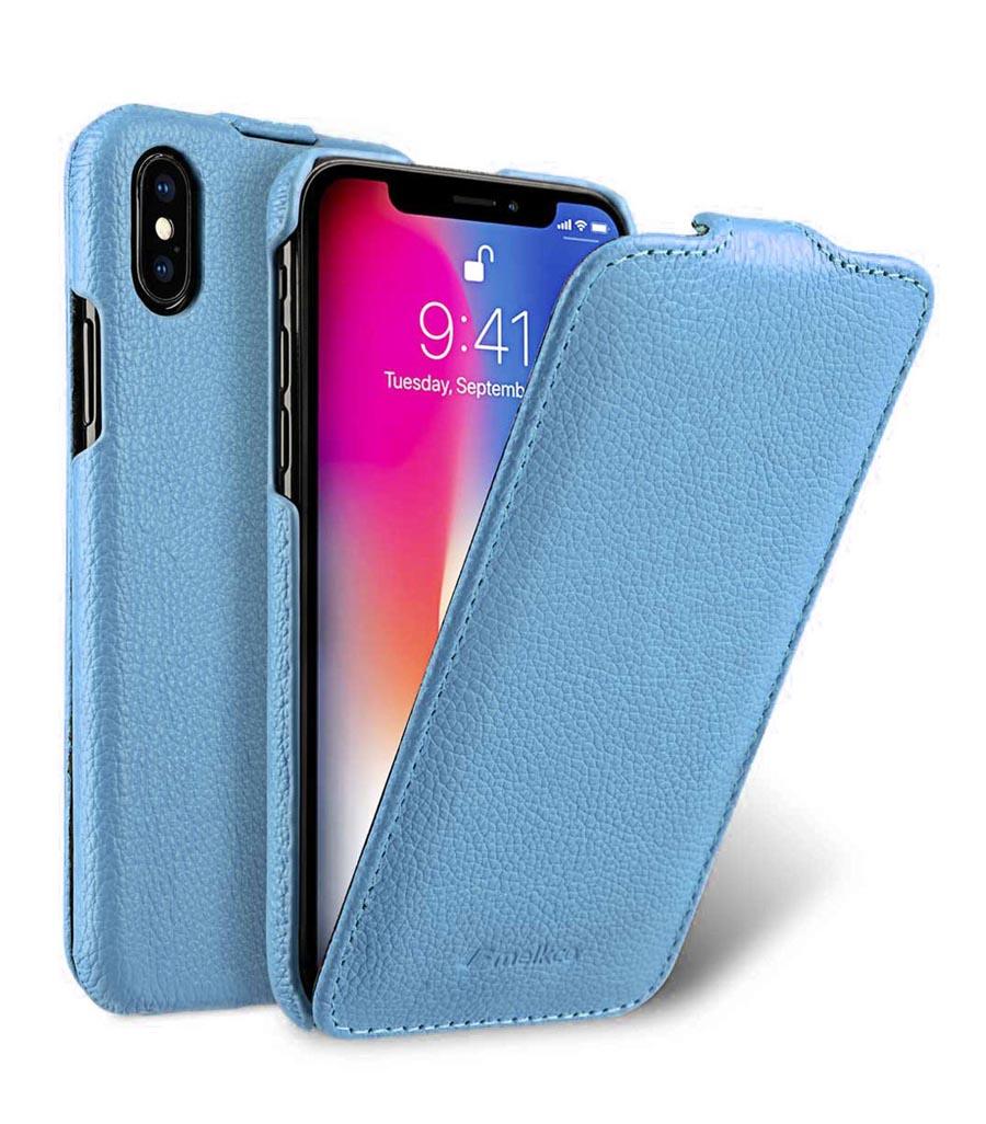 Чехол для сотового телефона Melkco Кожаный чехол флип для Apple iPhone X/XS - Jacka Type, голубой чехол для сотового телефона melkco кожаный чехол флип для apple iphone x xs jacka type сиреневый