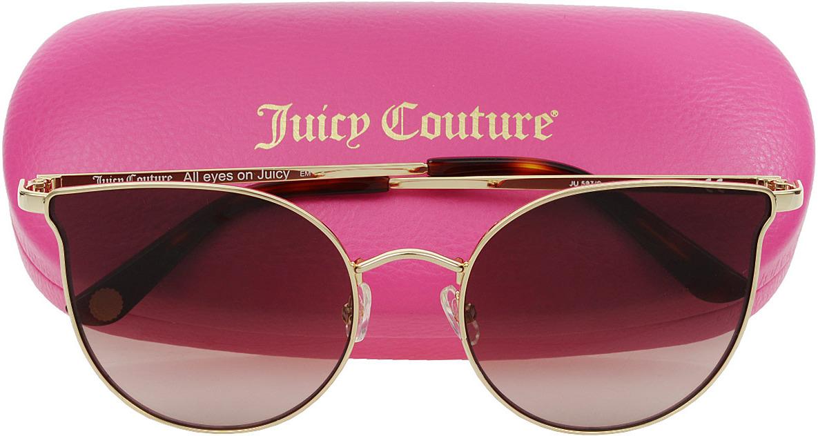 Очки солнцезащитные женские Juicy Couture, JUI-2011483YG56HA, золотой все цены
