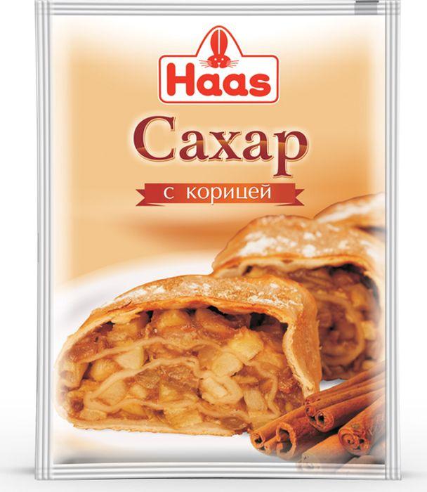 Сахар с корицей Haas, 40 шт по 40 г haas пудинг банановый 40 г