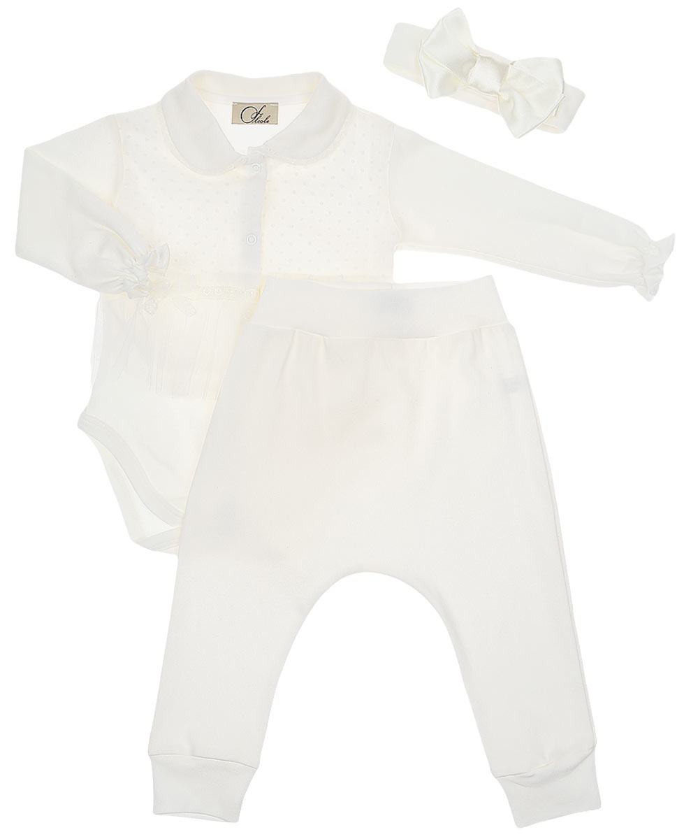 Комплект одежды Fleole боди для девочки fleole цвет светло бежевый fl19 31 07 размер 62