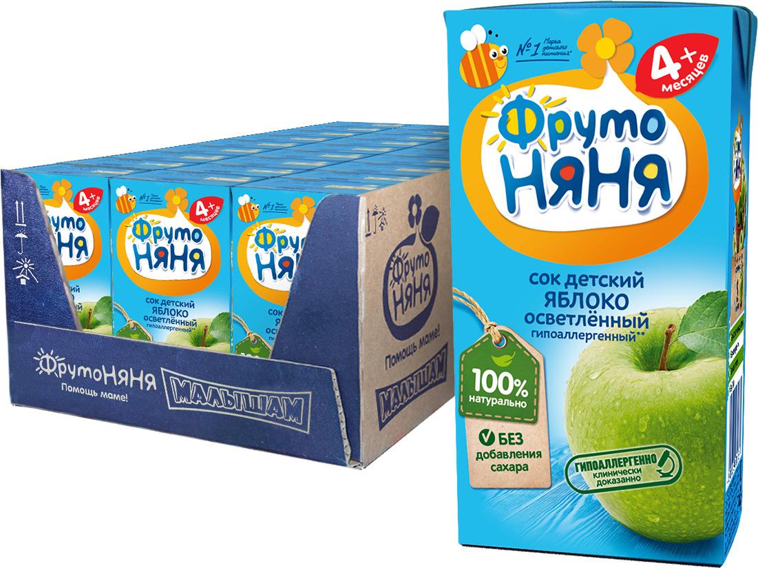 ФрутоНяня сок из яблок с 4 месяцев, 27 шт по 200 мл