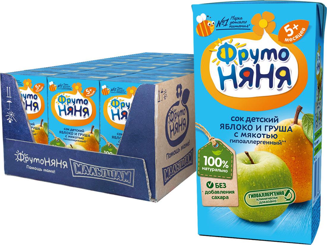 Сок из яблок и груш с 5 месяцев ФрутоНяня, 27 шт по 0,2 л