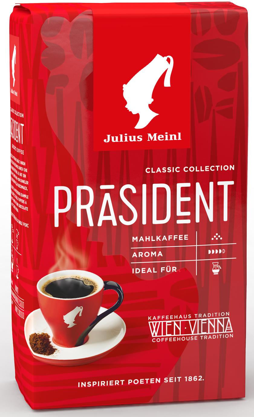 Julius Meinl Президент кофе молотый, 250 г meinl nino8