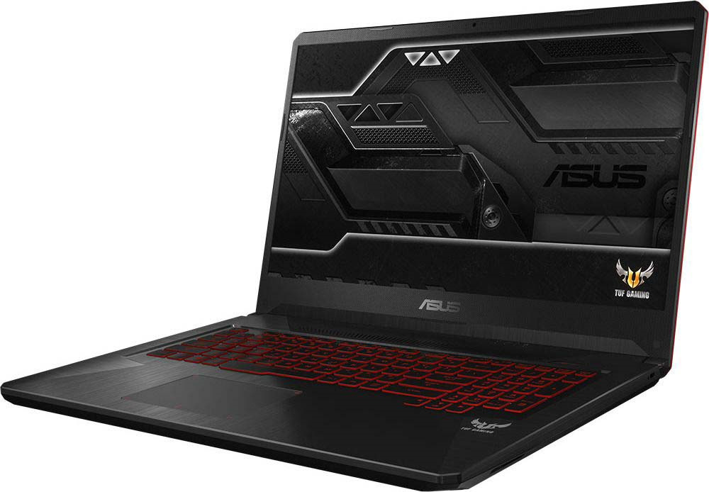 Игровой ноутбук ASUS ROG FX705GE 90NR00Z2-M05000, черный ноутбук hp 17 ab318ur 2pq54ea core i7 7700hq 8gb 1tb nv gtx 1050ti 4gb dvd 17 3 fullhd win10 black