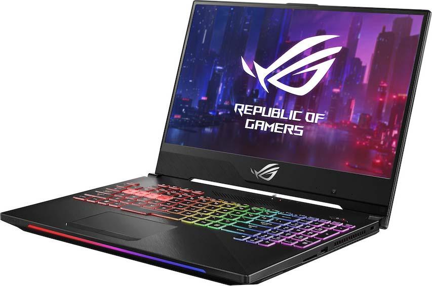 Игровой ноутбук ASUS ROG GL504GV 90NR01X2-M02160, черный ноутбук asus fx705gd ew117t core i5 8300h 6gb 1tb 128gb ssd nv gtx1050 2gb 17 3 fullhd win10 black