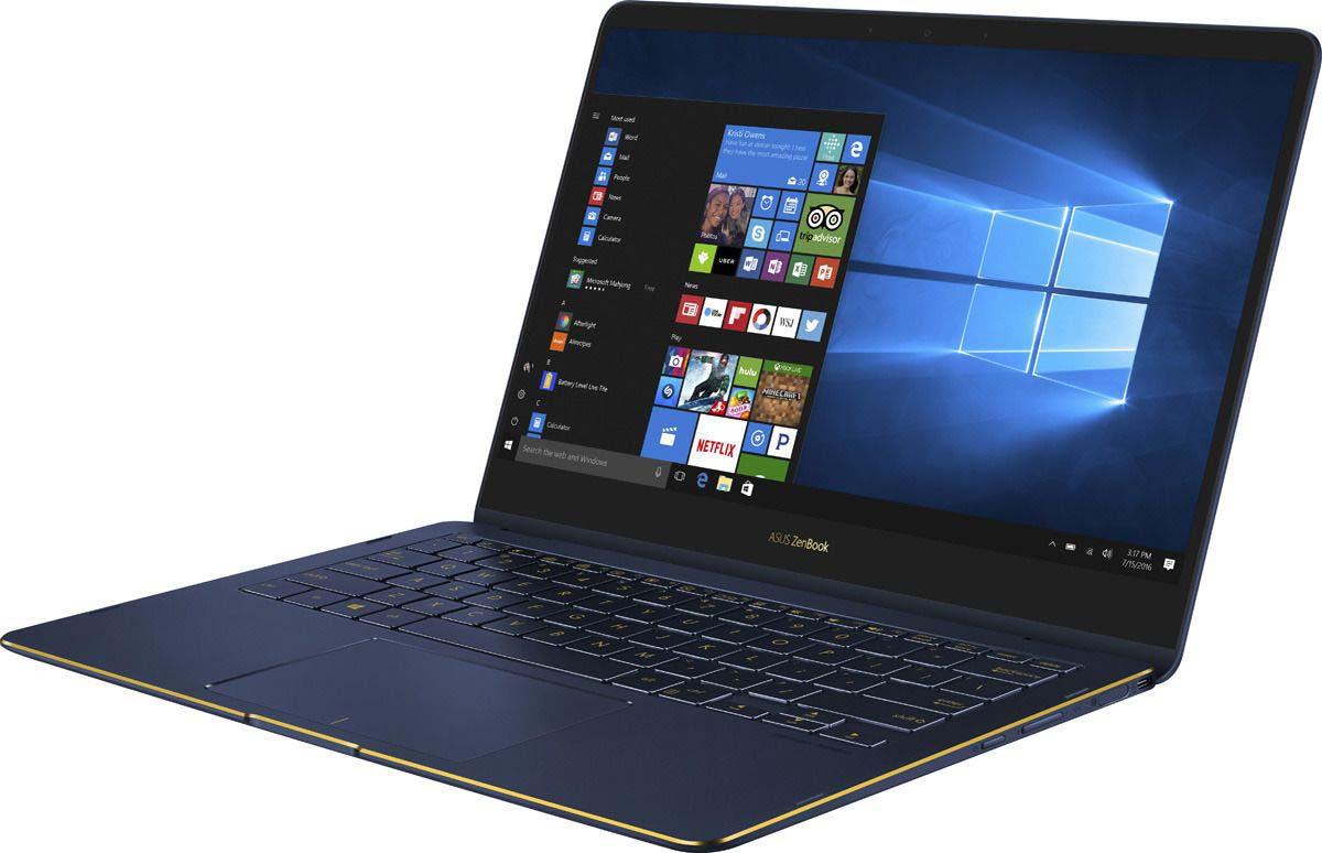 13.3 Ноутбук ASUS ZenBook Flip S UX370UA 90NB0EN1-M09750, синий ноутбук asus zenbook ux330ua fc296t 90nb0cw1 m07970